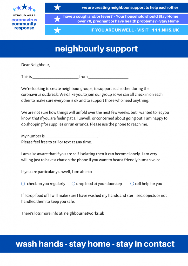 Neighbourly support
