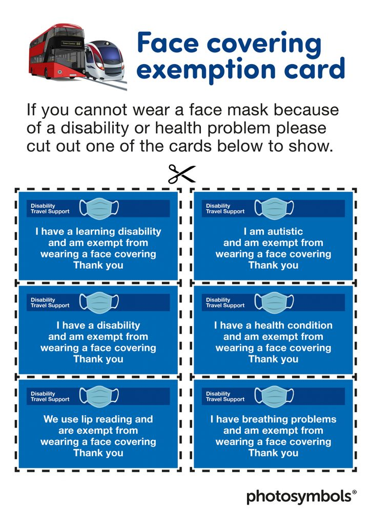 mask exemption card examples