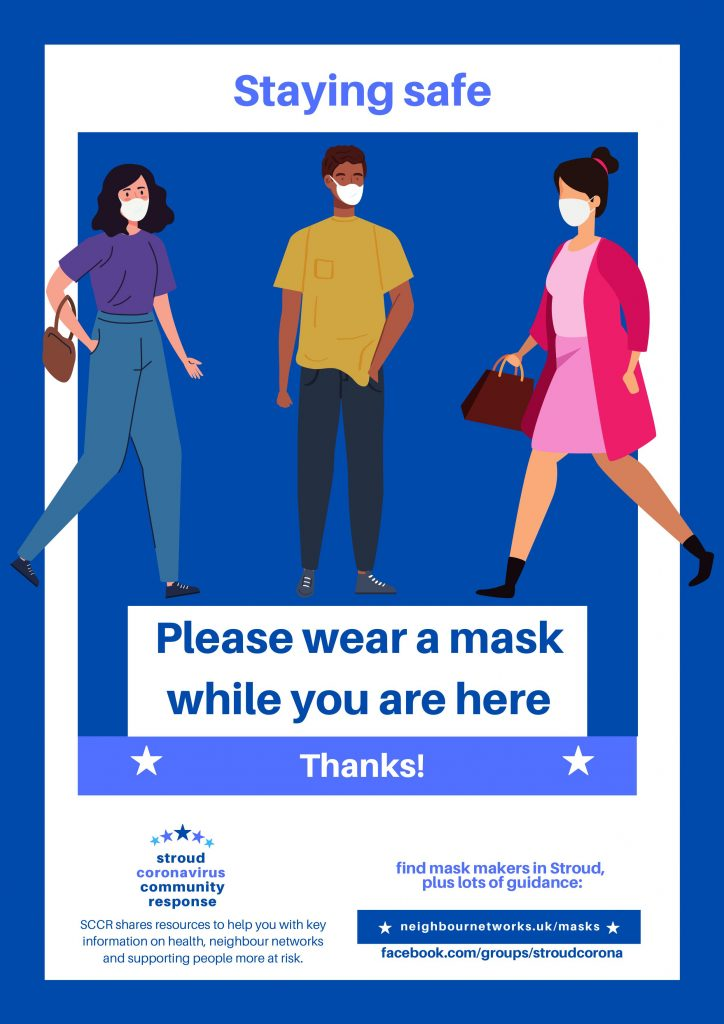 Please wear a mask while you are here